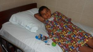 Brayan post surgery