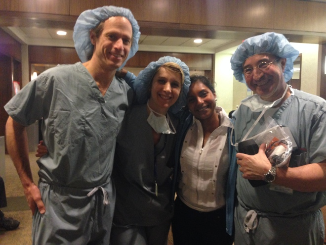 Karla with the doctors